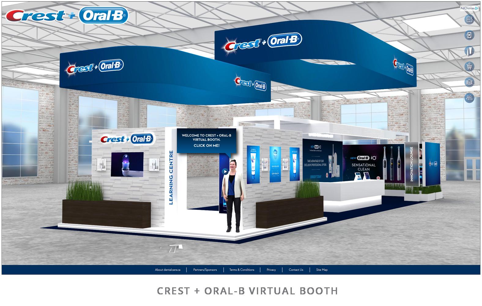 Crest+Oral-B Virtual Booth